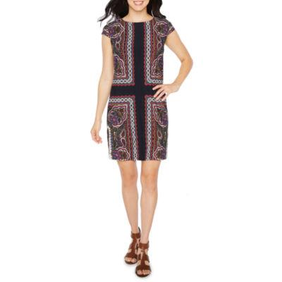 R & K Originals Short Sleeve Pattern Dress