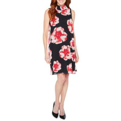 Perceptions Sleeveless Floral Shift Dress