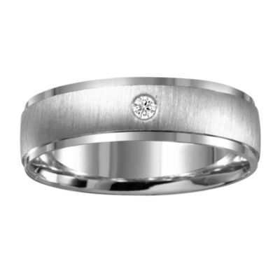 Mens Diamond Accent Genuine White Diamond 10K Gold Band