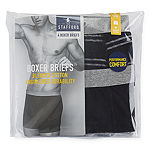 Stafford 4 Pair Blended Cotton Stripe Boxer Brief