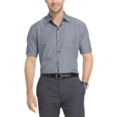 Van Heusen Short Sleeve Air Woven Shirt with Cooling Technology