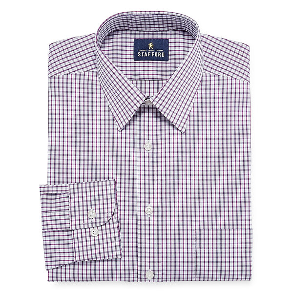 Stafford comfort stretch long sleeve dress shirt jcpenney for Stafford dress shirts fitted