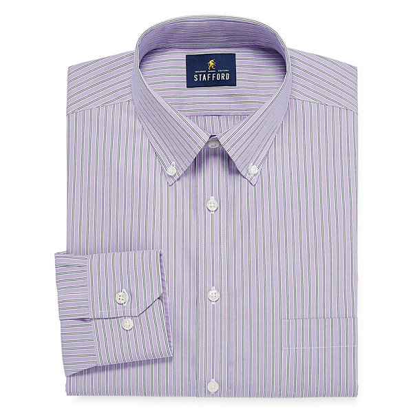 Stafford executive non iron fitted cotton pinpoint oxford for Stafford dress shirts fitted