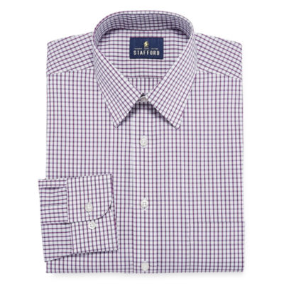 Stafford Comfort Stretch Broadcloth - Big and Tall Long Sleeve Dress Shirt