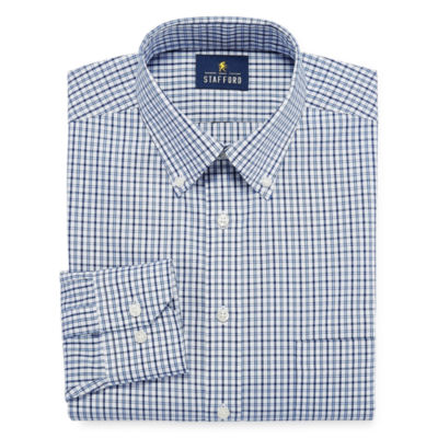 Stafford Executive Cotton Pinpoint Oxford - Big and X-Tall Long Sleeve Dress Shirt