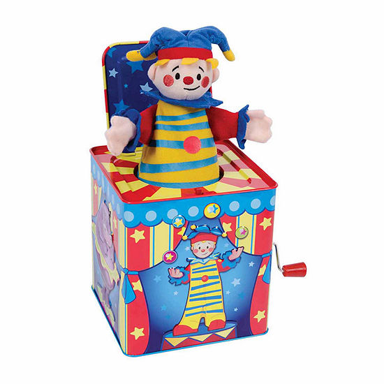 Schylling Circus Jester Puppet Jack In The Box