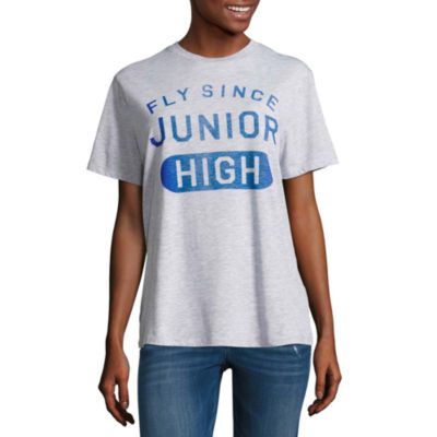 """Fly Since Junior High"" Graphic T-Shirt- Juniors"