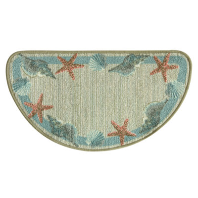 Bacova Guild Classic Berber Star Shell Border Printed Wedge Rugs