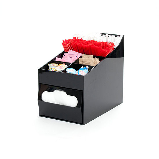 Mind Reader 8-Compartment Condiment Organizer With Napkin Holder
