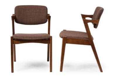 Baxton Studio Set of 2 Elegant Scandinavian Style Armchairs
