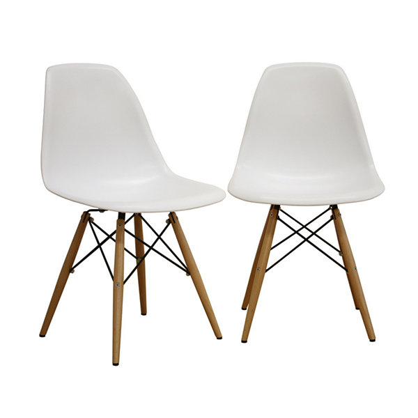 Baxton Studio Azzo Shell 2-pc. Side Chair