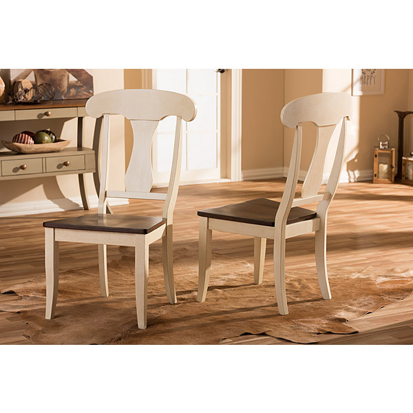 Baxton Studio Napoleon Chic Country 2-pc. Side Chair