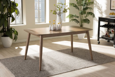 Baxton Studio Edna Wood-Top Dining Table