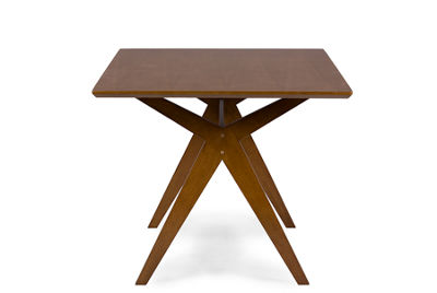 Baxton Studio Lucas Wood-Top Dining Table