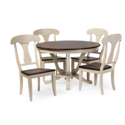 Baxton Studio Napoleon Chic Country Round Pedestal Wood-Top Dining Table