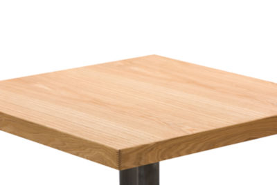 Baxton Studio Owen Square Wood-Top Dining Table