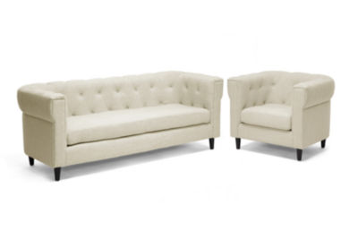 Baxton Studio Cortland 2-pc. Seating Set