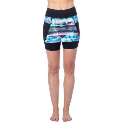 "PL Movement By Pink Lotus 7"" Stripe Skirted Bike Shorts"