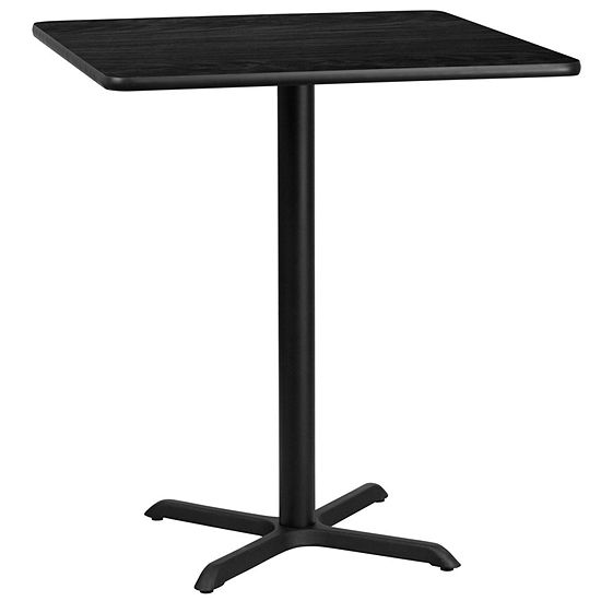 36 Square Laminate Table Top With 30 X 30 Bar Height Table Base