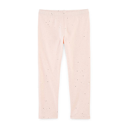 Okie Dokie Toddler Girls Full Length Leggings, 4t , Pink