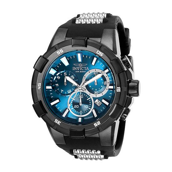 Invicta Aviator Mens Black Bracelet Watch-25861