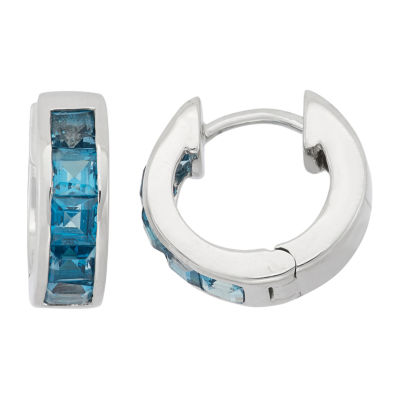 Lab Created Blue Topaz Clip On Earrings
