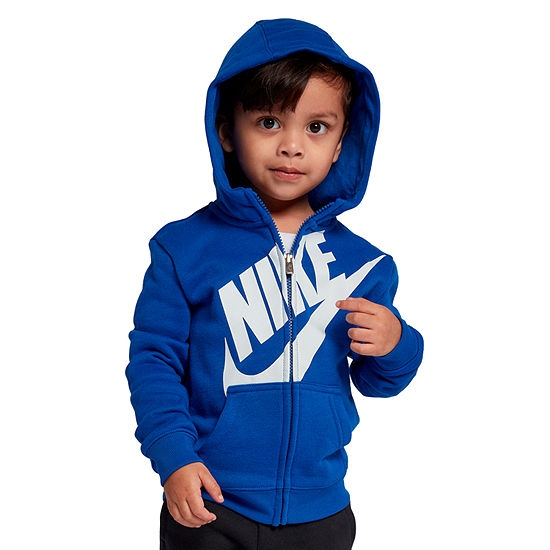Nike Boys Fitted Sleeve Hoodie-Toddler