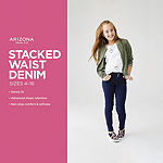 Arizona Stacked Waist Little & Big Girls Skinny Jeggings
