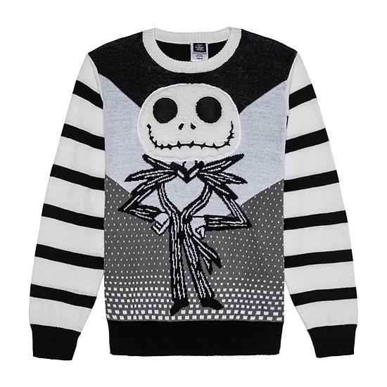Novelty Season Crew Neck Long Sleeve Knit Pullover Sweater