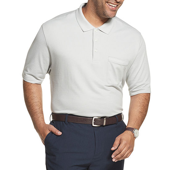 Van Heusen Big and Tall Flex Solid Tipped Polo Mens Short Sleeve Polo Shirt