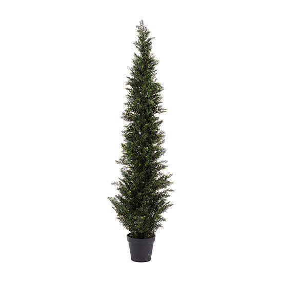 Lavish Home 6 Ft. Artificial Cedar Topiary Tree
