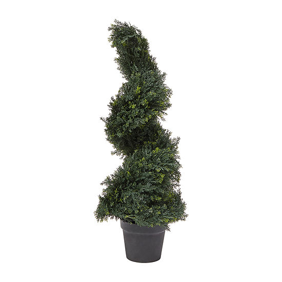 Lavish Home 3 Ft. Artificial Cypress Spiral Topiary Tree