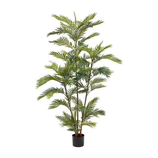 Lavish Home 6 Ft. Artificial Golden Cane Palm Tree