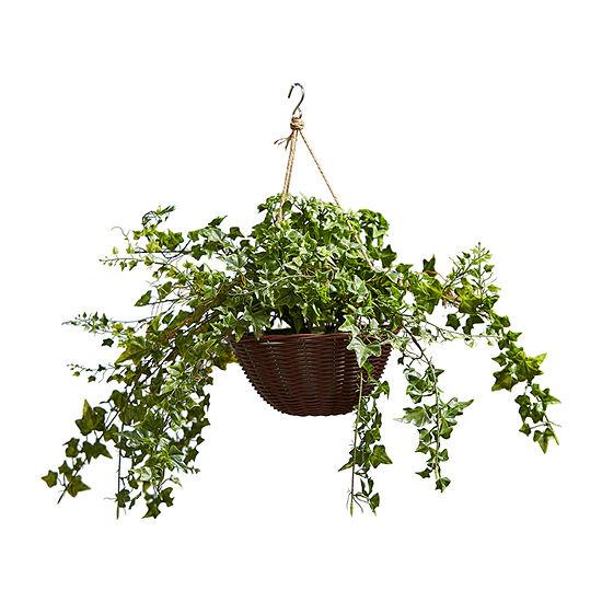 Lavish Home Faux English Ivy Arrangement With Basket
