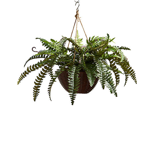 Lavish Home Faux Boston Fern Arrangement With Basket