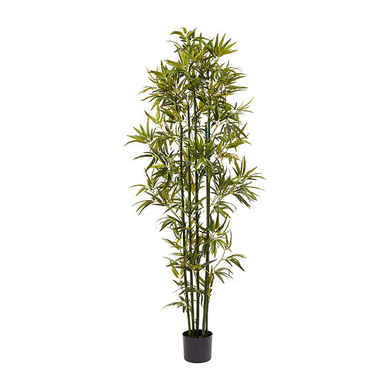 Lavish Home 6 Ft. Tall Artificial Bamboo Plant - Green Trunk