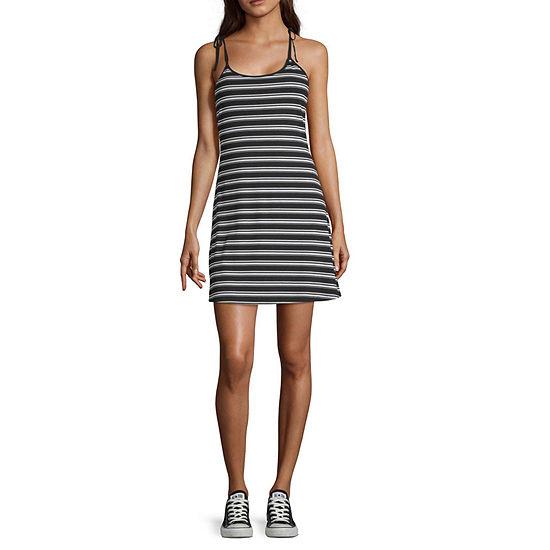 Arizona-Juniors Sleeveless Striped Fit & Flare Dress