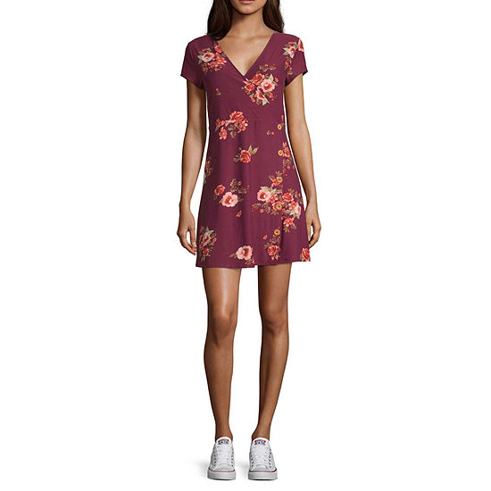 Arizona Short Sleeve Skater Dress-Juniors