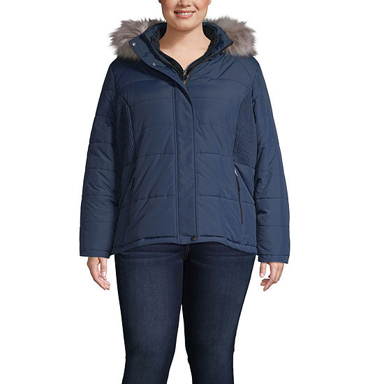 Free Country Hooded Heavyweight Puffer Jacket-Plus