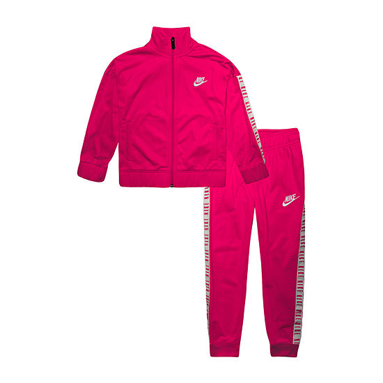 Nike Taping Girls 2-pc. Logo Track Suit Preschool