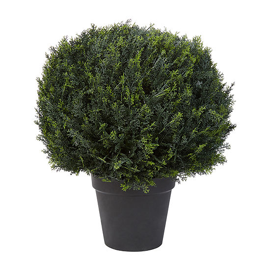 Lavish Home 23 In. Artificial Cypress Ball Topiary