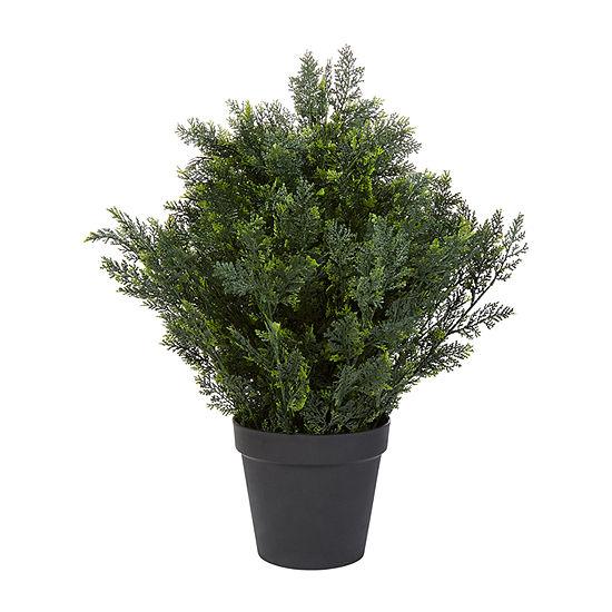 Lavish Home 26 In. Artificial Cedar Topiary
