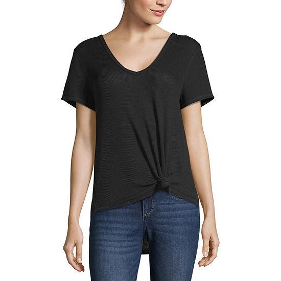 Eyeshadow Womens Short Sleeve T-shirt Juniors