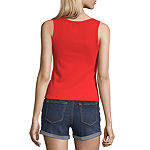 Arizona Juniors Round Neck Sleeveless Tank Top