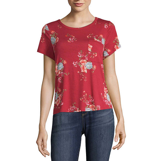 Arizona-Juniors Round Neck Short Sleeve T-Shirt
