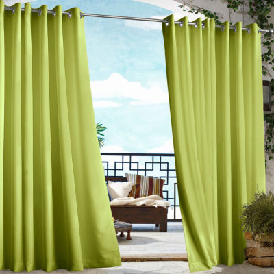 Gazebo Solid Indoor/Outdoor Grommet-Top Single Outdoor Curtain Panel