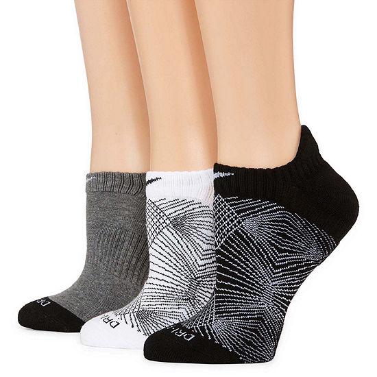 Nike® 3-pk. Dri-FIT Graphic No-Show Socks