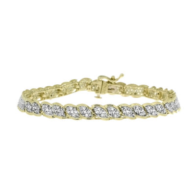 1 1/2 CT. T.W. Diamond 10K Yellow Gold Bracelet
