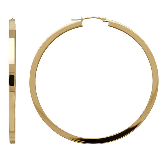 10K Yellow Gold 53mm Hoop Earrings