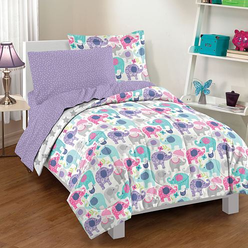 Dream Factory Elley Elephant Comforter Set